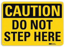 Lyle Caution Sign,10 inx14 in,Plastic HAWA U4-1204-NP_14X10