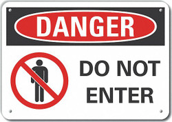 Lyle Exit & Entrance Danger Sign,10inx14in HAWA LCU4-0196-NP_14X10