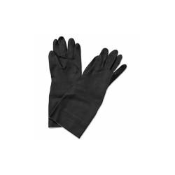 """Neoprene Flock-Lined Gloves, Long-Sleeved, 12"""", Medium, Black, Dozen 543M"""