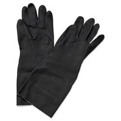 """Neoprene Flock-Lined Gloves, Long-Sleeved, 12"""", Large, Black, Dozen 543L"""