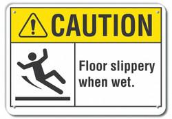 Lyle Rflctv Slippery Floor Caut Sign,10x14in HAWA LCU3-0096-RA_14x10
