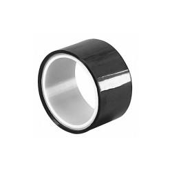 Tapecase Metalized Film Tape,Black,4In x 5Yd HAWA 15D527