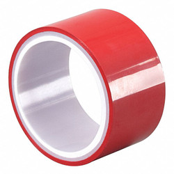 Tapecase Metalized Film Tape,Red,4 In. x 5 Yd. HAWA 15D531