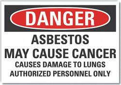 Lyle Asbestos Danger Label,3.5x5in,Polyester HAWA LCU4-0695-ND_5X3.5