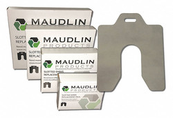 Maudlin Products Slotted Shim,E-6x6 Inx0.015In,Pk20 HAWA MSE015
