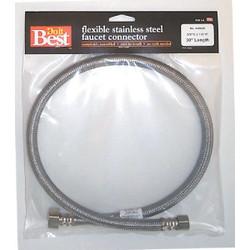 Do it Best 3/8 In. C X 1/2 In. F X 30 In. L Stainless Steel Faucet Connector