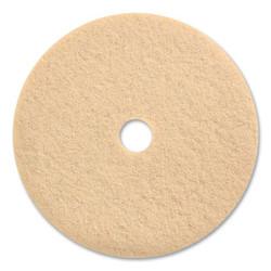 "Burnishing Floor Pads, 27"" Diameter, Tan, 5/Carton 203246"