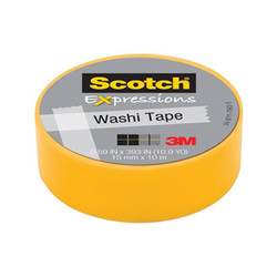 "Expressions Washi Tape, 0.59"" x 32.75 ft, Yellow 70005189140"
