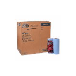 Advanced ShopMax Wiper 450, 11 x 9.4, Blue, 60/Roll, 30 Rolls/Carton 450360