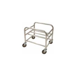 "Global Industrial Bulk Mover Cart - 6 Bushel, 28""L x 22-1/4""W x 26-1/4""H, Gray"