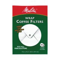 Melitta White Wrap Coffee Filter (40-Pack) 627402
