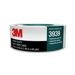 3M Heavy Duty Duct Tape 3939 Silver, 48 mm x 54.8 m 9.0 mil, 24 individuall