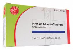 """Sim Supply First Aid Tape,Wt,1"""" W x 2-1/2 yd. L,PK2  9999-0202"""