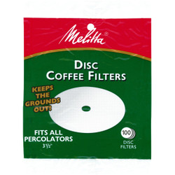 Melitta White Disc Coffee Filter (100-Pack) 628354 Pack of 24