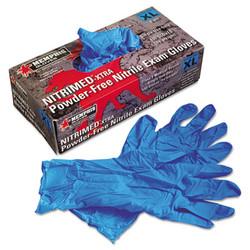 Mcr Safety Nitri-Med Disposable Nitrile Gloves, Blue, X-Large, 100/Box 6012XL