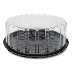"""Pactiv Container,Cake,9"""",Lid,Bk YEH89902"""