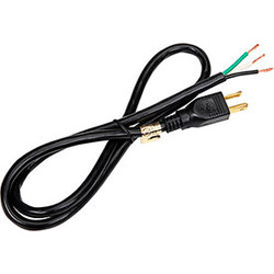 Carol 02524.73.01 3' Sjt Power Supply Replacement Cord, 16awg 13a/125v - Black