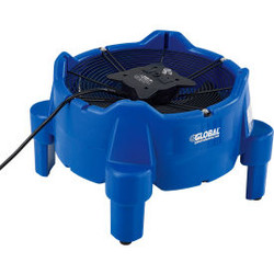 Global Industrial Vertical Floor Dryer/Blower, 1 Speed, 1/4 HP, 2800 CFM