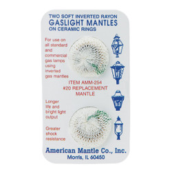 American Mantle Soft Inverted Gas Light Mantle (2 Count) 254 Pack of 36