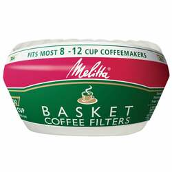 Melitta 8-12 Cup White Basket Coffee Filter (200-Pack) 629524 Pack of 24
