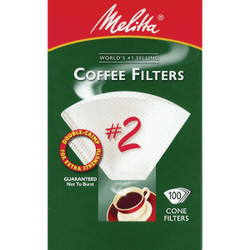 Melitta #2 Cone 4-6 Cup Coffee Filter (100-Pack) 622712 Pack of 12