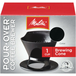 Melitta Pour-Over Black 1 Cup Filter Cone Coffee Brewer 640007 Pack of 8