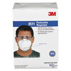 3m Particulate Respirator W/Cool Flow Exhalation Valve, 10 Masks/Box 8511