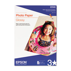 Epson Glossy Photo Paper, 9.4 Mil, 13 X 19, Glossy White, 20/Pack S041143
