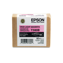 Epson T580b00 Ultrachrome K3 Ink, Vivid Light Magenta T580B00