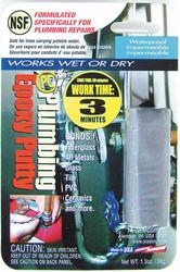Pc Products Putty,Plumbing Epoxy,1.3 Oz Pkg,Gray  021590