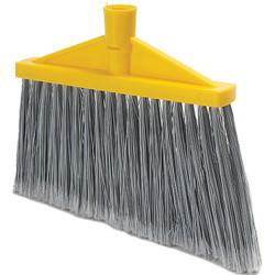 "Trust® Angle Broom w/o Handle, 11 3/8"", Yellow, 1/Each"
