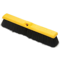 "Trust® Medium Floor Sweep, Plastic Foam Block, PP Fill, 17 7/8"", Yellow, 1/Each"