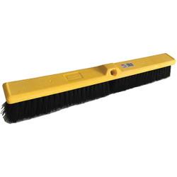 "Trust® Medium Floor Sweep, Plastic Foam Block, Tampico Fill, 24"", Yellow, 1/Each"