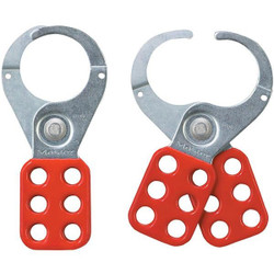 """Master Lock® Steel Lockout Hasp, 1 1/2"""" Jaws, Red, 1/Each"""