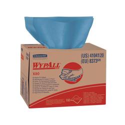 """WypAll* X80 Towels, Brag Box, 12 1/2"""" x 16 13/16"""", Blue, 160/Box"""