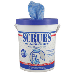 Scrubs® Hand Cleaner Towels, Blue, 6 Containers/72 ea