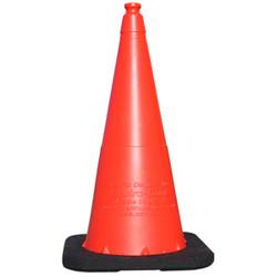"Enviro-Cone® Traffic Cone, 28"", 7 lb, Orange/Black, 1/Each"