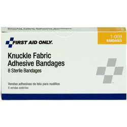 """Knuckle Fabric Bandages, 1 1/2"""" x 3"""", 8/Box"""