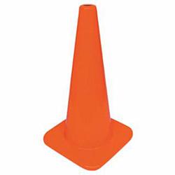 """Cortina W Series Traffic Cone, 18"""", 3 lb, Fluorescent Orange, 1/Each"""