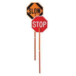 Cortina Stop & Slow Paddle Sign, Non-Reflective, 1/Each