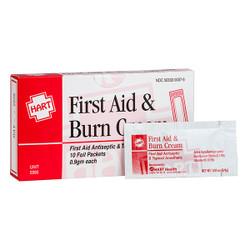 HART Health® First Aid & Burn Cream, 0.9 g, 10/Box