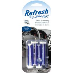 Energizer® Refresh Your Car® Vent Sticks, New Car, 4/Pkg