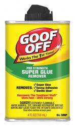 Goof Off Adhesive Remover,Liquid Form,4 oz. Size  FG678
