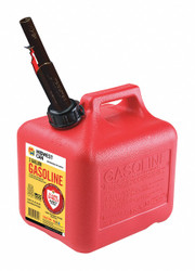 """Flame Shield Gas Can,2 gal.,Self,Red,HDPE,9-3/4"""" H  2310"""
