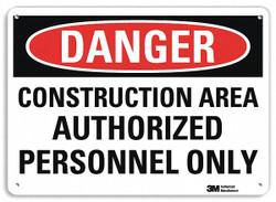 Lyle Danger Sign,10 in x 14 in,Aluminum  U3-1239-NA_14x10