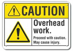 Lyle Caution Sign,10 inx14 in,Plastic  LCU3-0032-NP_14x10