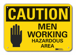 Lyle Caution Sign,10 inx14 in,Plastic  LCU3-0496-NP_14x10