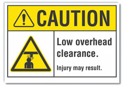 Lyle Low Clearance Caution Rflctv Lbl,3.5x5in  LCU3-0006-RD_5x3.5