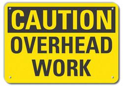 Lyle Rflctv Overhead Hazard Caut Sign,10x14in  LCU3-0226-RA_14x10