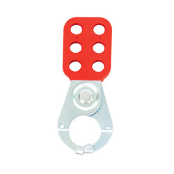 """TruForce™ Safety Lockout Hasp, High-Security Steel w/ Tab & 1"""" Jaws, 1/Each"""